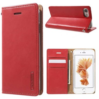 Image of   iphone 7/8 Simple Classic Blue Moon Card Slot Wallet Leather - Rød / under updatering